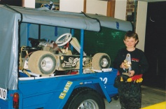2004: Todd and his winning trophy