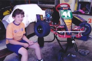 2007: Todd and his BRK dirt kart