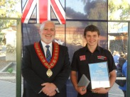 2014: Todd with Campbelltown City Council mayor, Simon Brewer